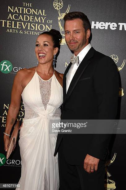 Actor Eric Martsolf and Lisa Kouchak attend The 41st Annual Daytime Emmy Awards at The Beverly Hilton Hotel on June 22 2014 in Beverly Hills...