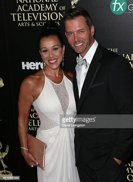 Actor Eric Martsolf and wife Lisa Kouchak attend the 41st Annual Daytime Emmy Awards at The Beverly Hilton Hotel on June 22 2014 in Beverly Hills...