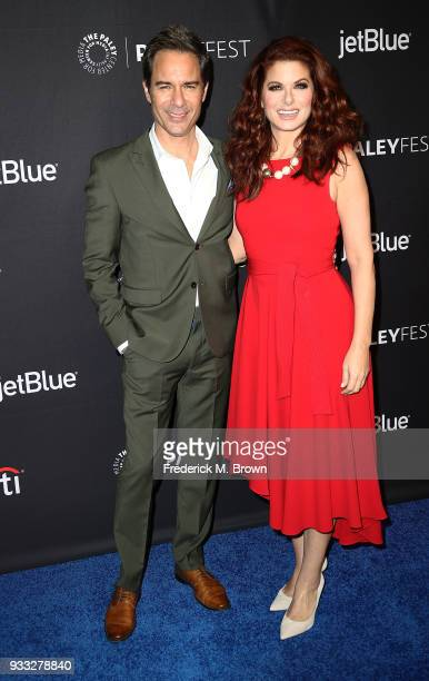 Actor Eric McCormack and actress Debra Messing of the television show 'Will Grace' attend The Paley Center for Media's 35th Annual PaleyFest Los...