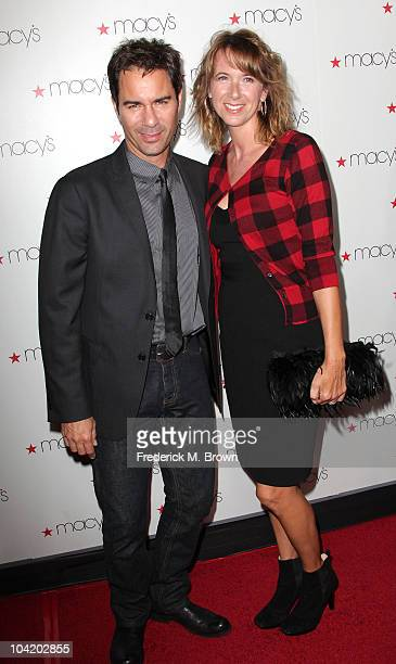 Actor Eric McCormack and actress Janet Holden attends the Macy's Passport Presents Glamorama Fashion Extravaganza at the Orpheum Theatre on September...