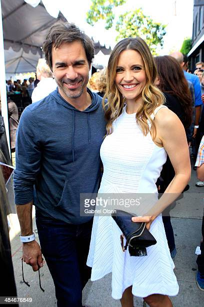 Actor Eric McCormack and actress KaDee Strickland attend the John Varvatos 11th Annual Stuart House Benefit presented by Chrysler Kids Tent by by...
