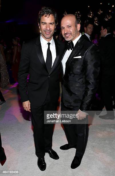 Actor Eric McCormack and Alessandro Maria Ferreri attend ROCA PATRON TEQUILA at the 23rd Annual Elton John AIDS Foundation Academy Awards Viewing...