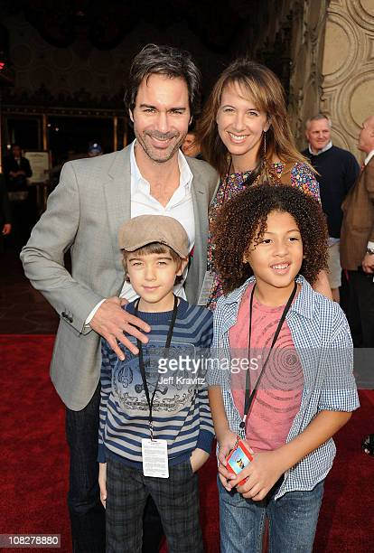 Actor Eric McCormack and family arrive at the Los Angeles premiere of Gnomeo and Juliet at the El Capitan Theatre on January 23 2011 in Hollywood...