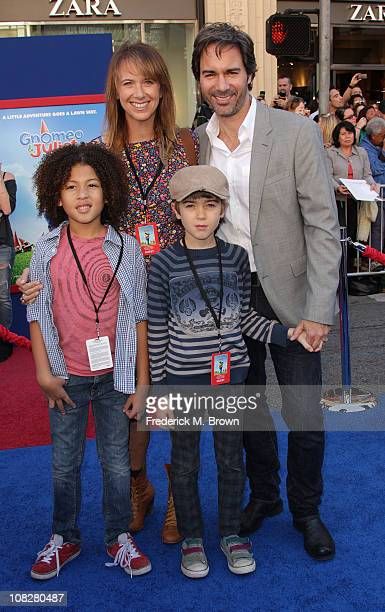Actor Eric McCormack and his family attend the premiere of Touchstone Pictures' Gnomeo and Juliet at the El Capitan Theatre on January 23 2011 in...