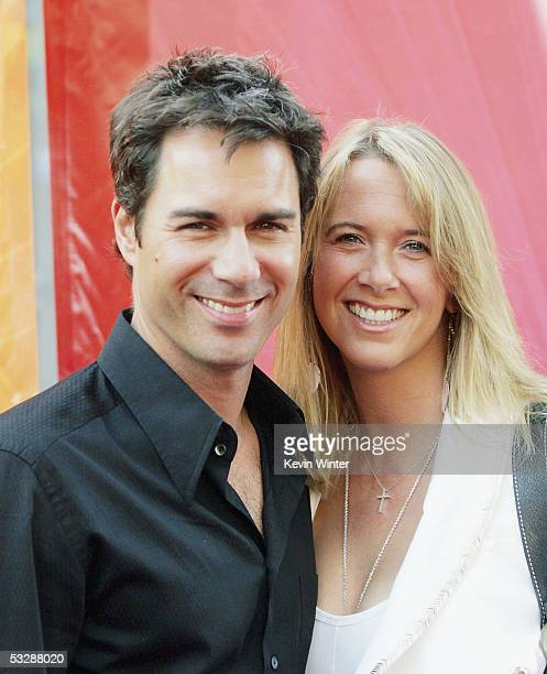 Actor Eric McCormack and his wife Janet arrive at NBC's 2005 All Star Celebration for the TCA Summer Tour at the Century Club on July 25 2005 in Los...