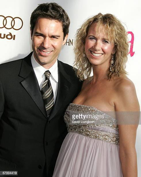 Actor Eric McCormack and his wife Janet Holden arrive at the 14th Annual Elton John Academy Awards viewing party held at the Pacific Design Center on...