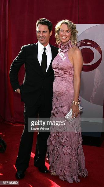Actor Eric McCormack and his wife Janet Holden arrive at the 57th Annual Emmy Awards held at the Shrine Auditorium on September 18 2005 in Los...