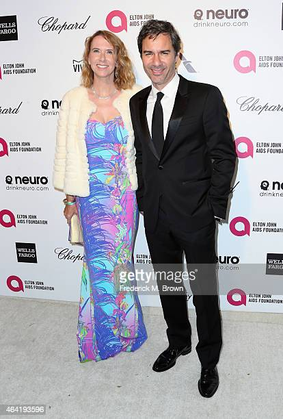 Actor Eric McCormack and his wife Janet Holden attend the 23rd Annual Elton John AIDS Foundation's Oscar Viewing Party on February 22 2015 in West...
