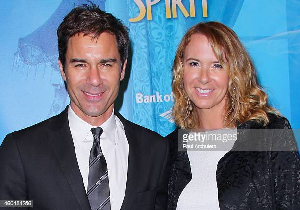 Actor Eric McCormack and his Wife Janet Holden attend the Blithe Spirit opening night performance at The Ahmanson Theatre on December 14 2014 in Los...