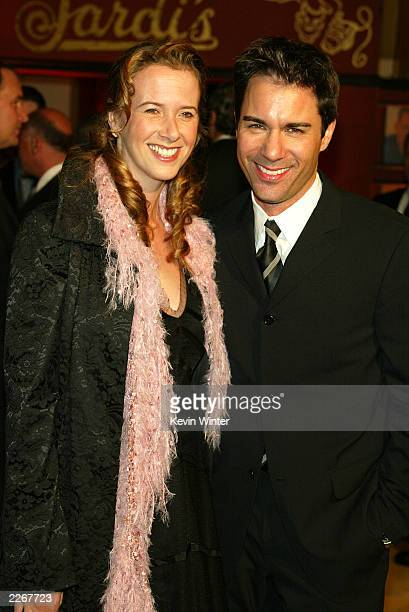 Actor Eric McCormack and his wife Janet pose at The Alzheimer's Association's 11th Annual A Night at Sardi's where TV stars sang songs from the...
