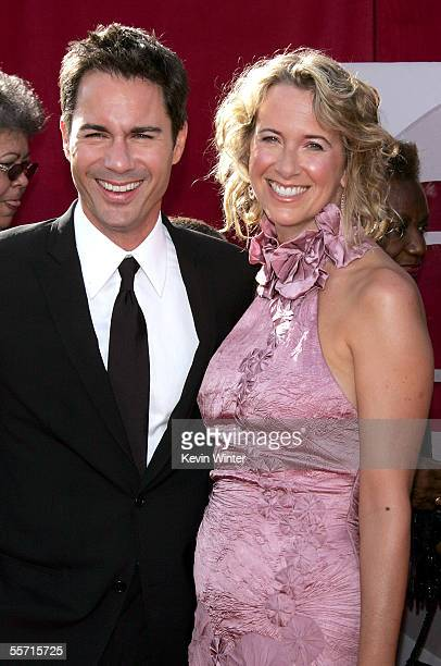 Actor Eric McCormack and is wife Janet Holden arrive at the 57th Annual Emmy Awards held at the Shrine Auditorium on September 18 2005 in Los Angeles...