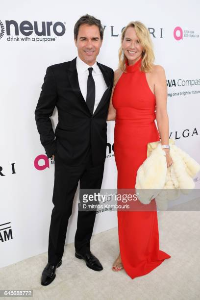 Actor Eric McCormack and Janet Holden attend the 25th Annual Elton John AIDS Foundation's Academy Awards Viewing Party at The City of West Hollywood...
