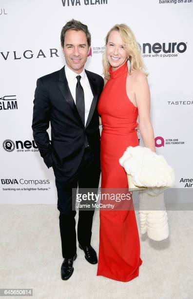 Actor Eric McCormack and Janet Holden attends the 25th Annual Elton John AIDS Foundation's Academy Awards Viewing Party at The City of West Hollywood...