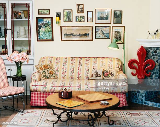 Actor Eric McCormack and Janet Holden's home is photographed for InStyle Magazine in 2001 in Los Angeles California PUBLISHED IMAGE