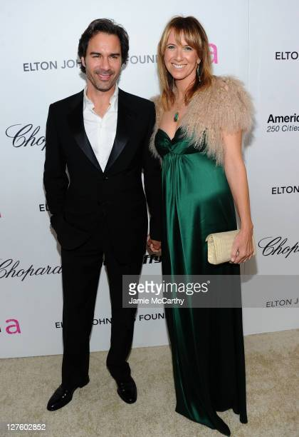 Actor Eric McCormack and Janet Leigh Holden attend the 19th Annual Elton John AIDS Foundation Academy Awards Viewing Party at the Pacific Design...
