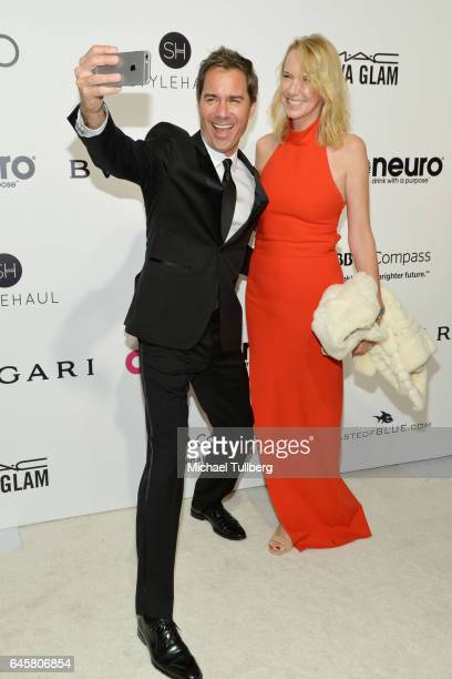 Actor Eric McCormack and Janet McCormack attend the 25th Annual Elton John AIDS Foundation's Academy Awards Viewing Party at The City of West...