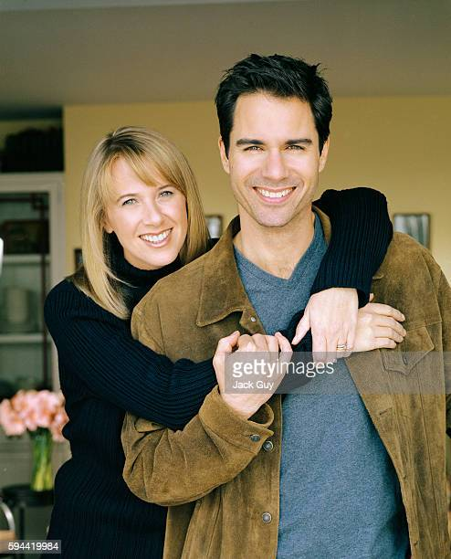 Actor Eric McCormack and wife Janet Holden are photographed for InStyle Magazine in 2001 at home in Los Angeles California