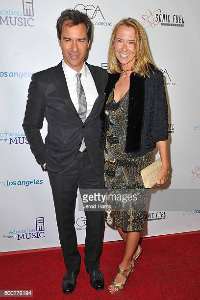 Actor Eric McCormack and wife Janet Holden arrive at Education Through MusicLos Angeles' 10th Anniversary Benefit Gala at Skirball Cultural Center on...