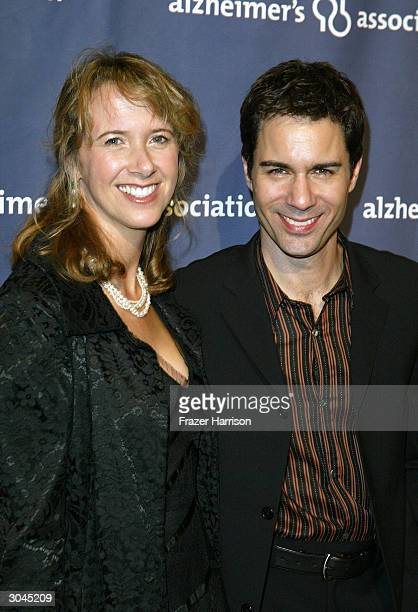 Actor Eric McCormack and wife Janet Holden arrive at The Alzheimer's Association's 12th Annual A Night at Sardi's Grease themed celebrity fundraiser...