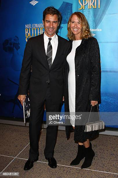 Actor Eric McCormack and wife Janet Holden attend Noel Coward's 'Blithe Spirit' at Ahmanson Theatre on December 14 2014 in Los Angeles California
