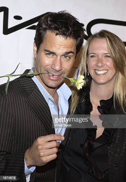 Actor Eric McCormack and wife Janet Holden attend Project Angel Food's 10th Annual Divine Design grand opening on December 5 2002 in Santa Monica...