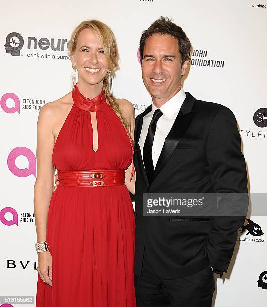Actor Eric McCormack and wife Janet Holden attend the 24th annual Elton John AIDS Foundation's Oscar viewing party on February 28, 2016 in West...