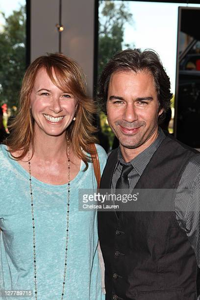 Actor Eric McCormack and wife Janet Holden attend the Storm Thorgerson Exhibit TAKEN BY STORM at John Varvatos Los Angeles on May 5 2011 in Los...