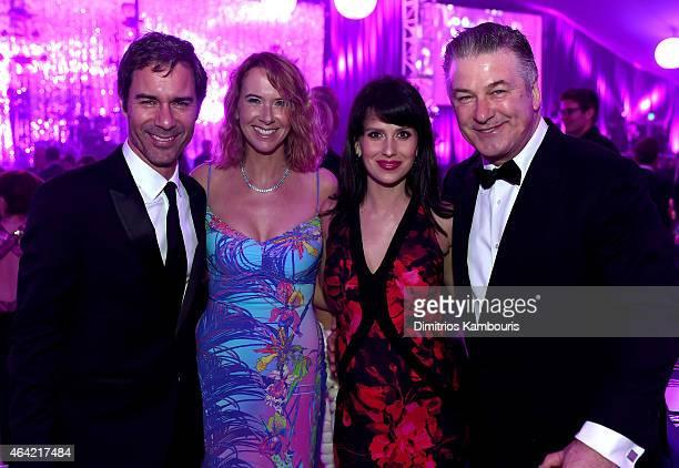 Actor Eric McCormack Janet Holden Hilaria Baldwin and actor Alec Baldwin attend the 23rd Annual Elton John AIDS Foundation Academy Awards Viewing...