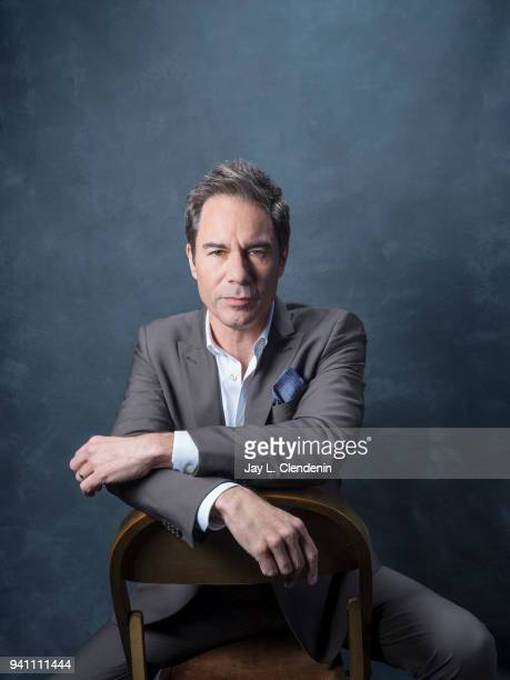 Actor Eric McCormack of 'Will and Grace', is photographed for Los Angeles Times on March 17, 2018 at the PaleyFest at the Dolby Theatre in Hollywood,...