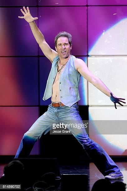 Actor Eric McCormack performs onstage during the 24th and final 'A Night at Sardi's' to benefit the Alzheimer's Association at The Beverly Hilton...
