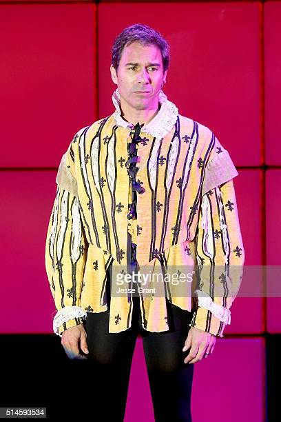 Actor Eric McCormack performs onstage during the 24th and final A Night at Sardi's to benefit the Alzheimer's Association at The Beverly Hilton Hotel...