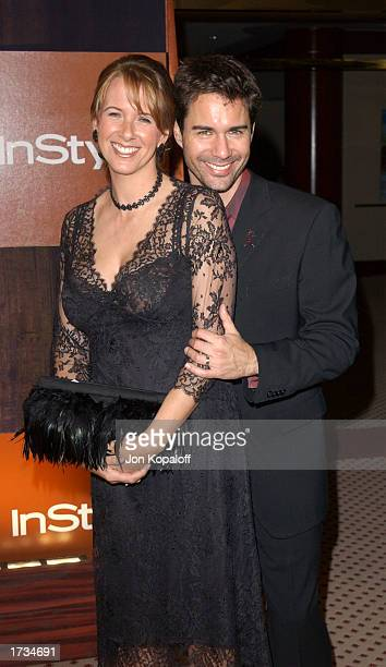 Actor Eric McCormack with wife Janet poses during InStyle Golden Globes after party at The Palm Court at the Beverly Hilton Hotel on January 19 2003...