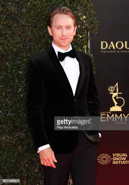 Actor Eric Nelsen attends the 45th Annual Daytime Creative Arts Emmy Awards at the Pasadena Civic Auditorium on April 27 2018 in Pasadena California