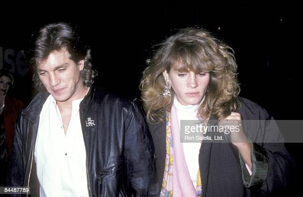 Actor Eric Roberts and Julia Roberts attend the Goose and Tomtom Play Performance on August 28 1986 at Lincoln Center in New York City New York