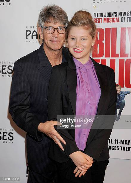 Actor Eric Roberts and niece Arielle arrive at Los Angeles opening night of Billy Elliot at the Pantages Theatre on April 12 2012 in Hollywood...