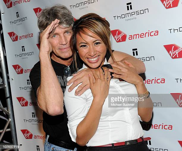 Actor Eric Roberts attends the launch of Virgin America's first international destination to Toronto at the Thompson Hotel on June 29 2010 in Toronto...