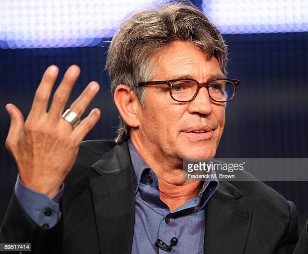 """Actor Eric Roberts of the television show """"Crash"""" speaks during the Starz Network segment of the Television Critics Association Press Tour at the..."""