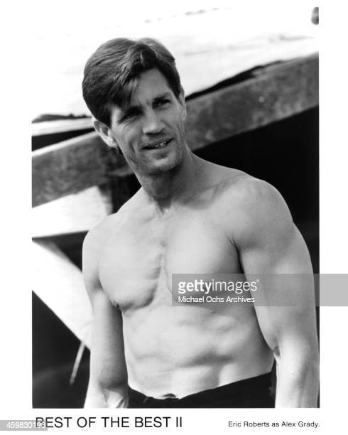 Actor Eric Roberts on set of the movie Best of the Best 2 circa 1993