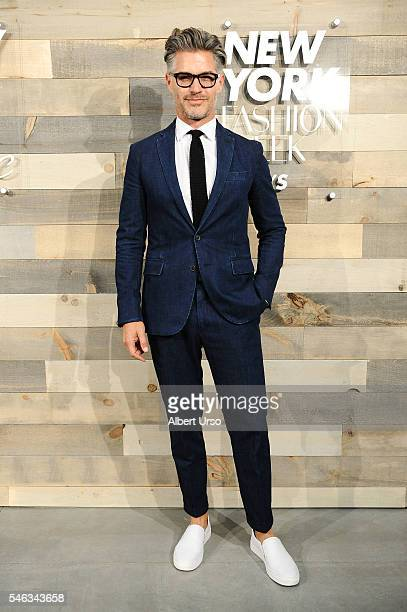 Actor Eric Rutherford attends the CFDA x Cadillac opening night party during New York Fashion Week: Men's Spring/Summer 2017 at Cadillac House on...