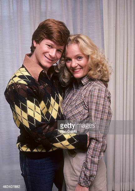Actor Eric Scott and wife KareyLouis pose for an exclusive photo session on January 20 1982 at KareyLouis and Eric Scott's condo in Studio City...