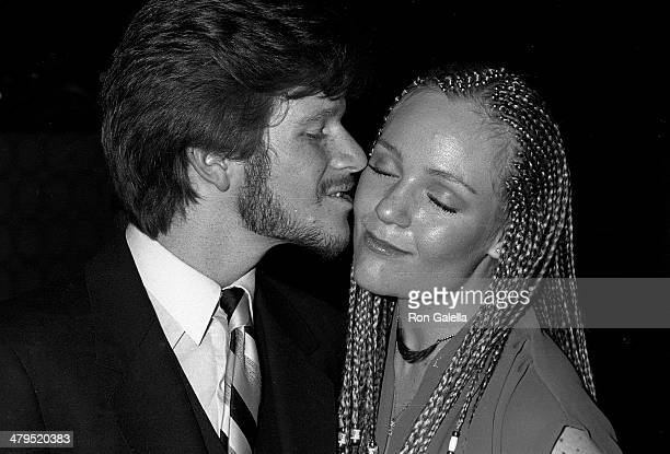 Actor Eric Scott and wife KareyLouis Scott attend The Waltons Season Eight WrapUp Party on March 23 1980 at Century Plaza Hotel in Century City...