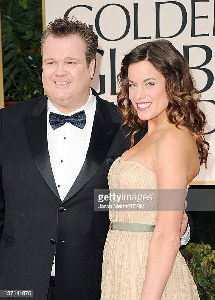 Actor Eric Stonestreet and wife Katherine Tokarz arrive at the 69th Annual Golden Globe Awards held at the Beverly Hilton Hotel on January 15 2012 in...