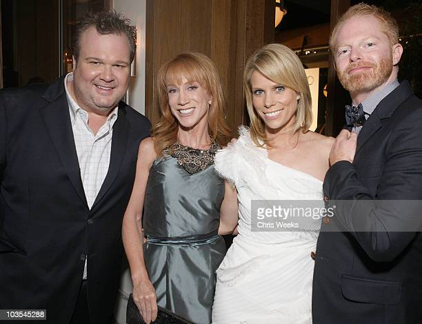 Actor Eric Stonestreet comedian Kathy Griffin and actors Cheryl Hines and Jesse Tyler Ferguson attend Audi Celebrates the 2010 Emmy Awards at...
