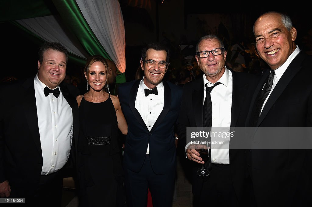 Actor Eric Stonestreet, Dana Walden, Chairman and CEO of Fox Television Group, actor Ty Burrell, actor Ed O'Neill, and Gary Newman, Chairman and CEO of Fox Television Group attend the FOX, 20th Century FOX Television, FX Networks and National Geographic Channel's 2014 Emmy Award Nominee Celebration at Vibiana on August 25, 2014 in Los Angeles, California.