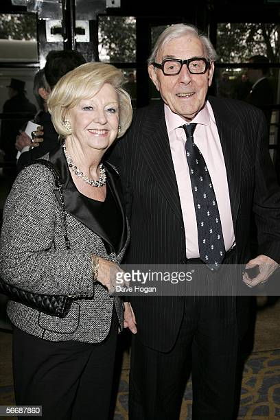 Actor Eric Sykes and his manager Norma arrive at the South Bank Show Awards the10th annual awards rewarding excellence in everything from opera to...