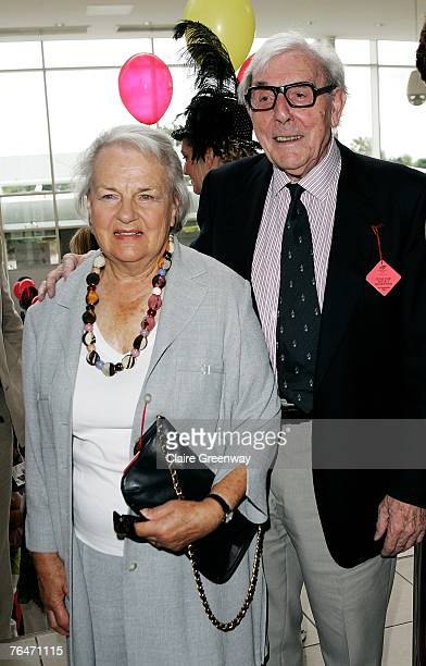 UK TABLOID NEWSPAPERS OUT Actor Eric Sykes and his wife Edith attend the 49th Variety Club Race Day at Sandown race course on September 1 2007 in...
