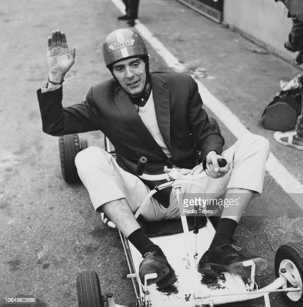 Actor Eric Sykes riding a gokart in a scene from the television sitcom 'Sykes and a' April 28th 1961