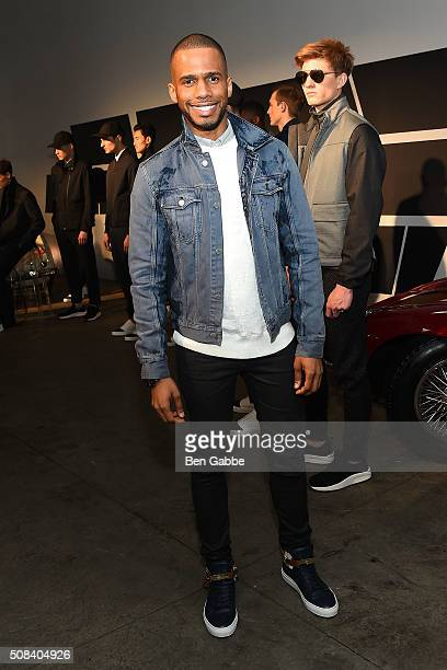 Actor Eric West attends the Craft Atlantic presentation during New York Fashion Week Men's Fall/Winter 2016 at Cooper Classic Cars on February 4 2016...