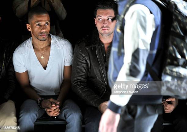 Actor Eric West attends the General Idea Fall 2012 fashion show during MercedesBenz Fashion Week at The Studio at Lincoln Center on February 10 2012...