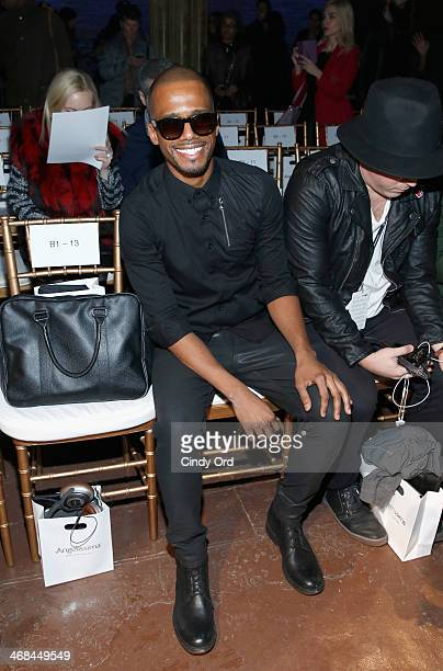 Actor Eric West attends the Ricardo Seco fashion show during MercedesBenz Fashion Week Fall 2014 at The Angel Orensanz Foundation on February 10 2014...